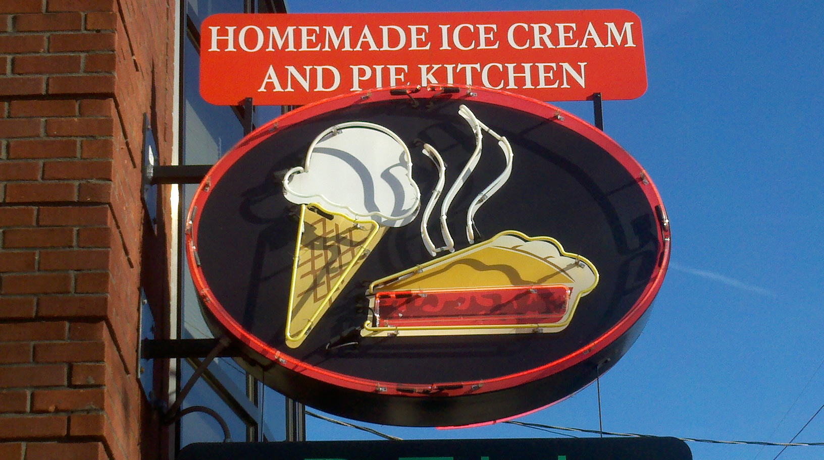 Homemade Ice Cream And Pie Kitchen