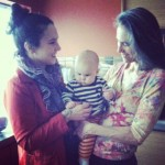 Mama Alec, baby Soleile and grandma Joline.